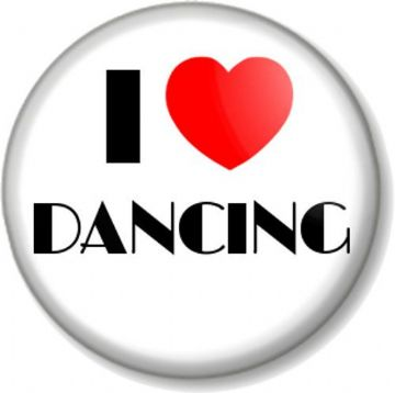 I Love / Heart DANCING Pinback Button Badge Performing Stage Theatre Clubbing Dance